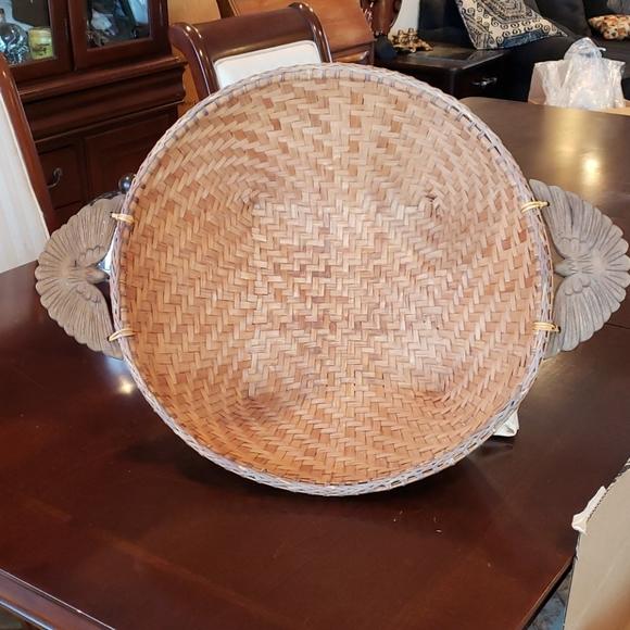 Vintage splint wood large basket